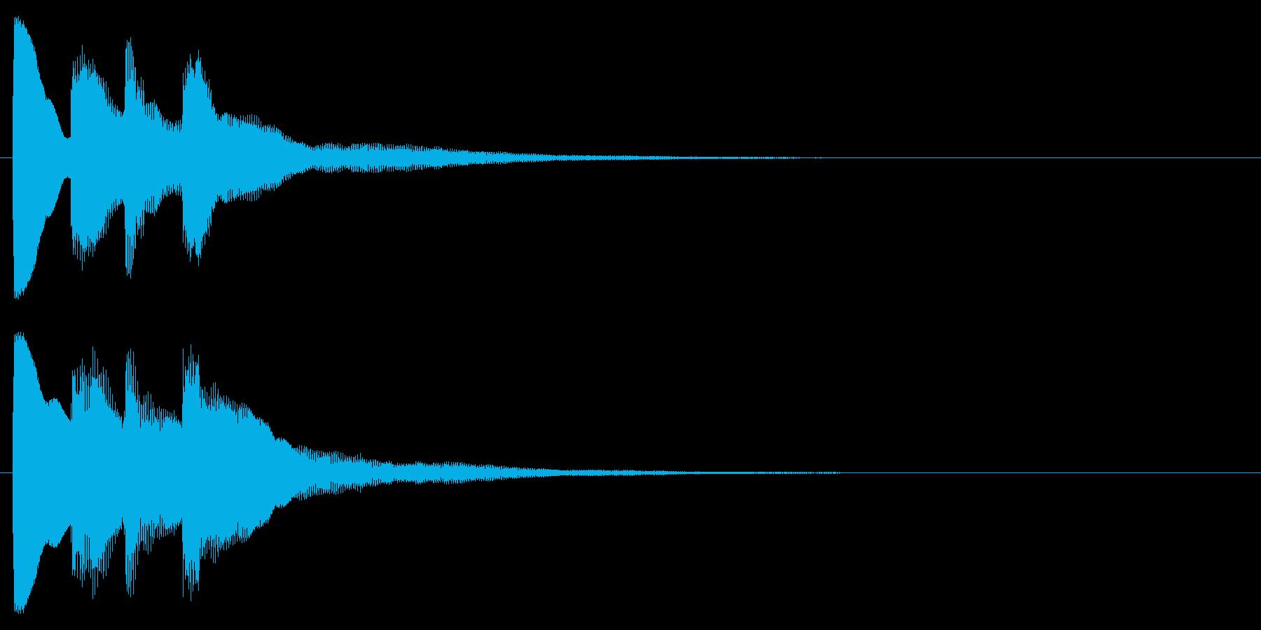 ピンポン(クイズ・正解・当たり)02の再生済みの波形