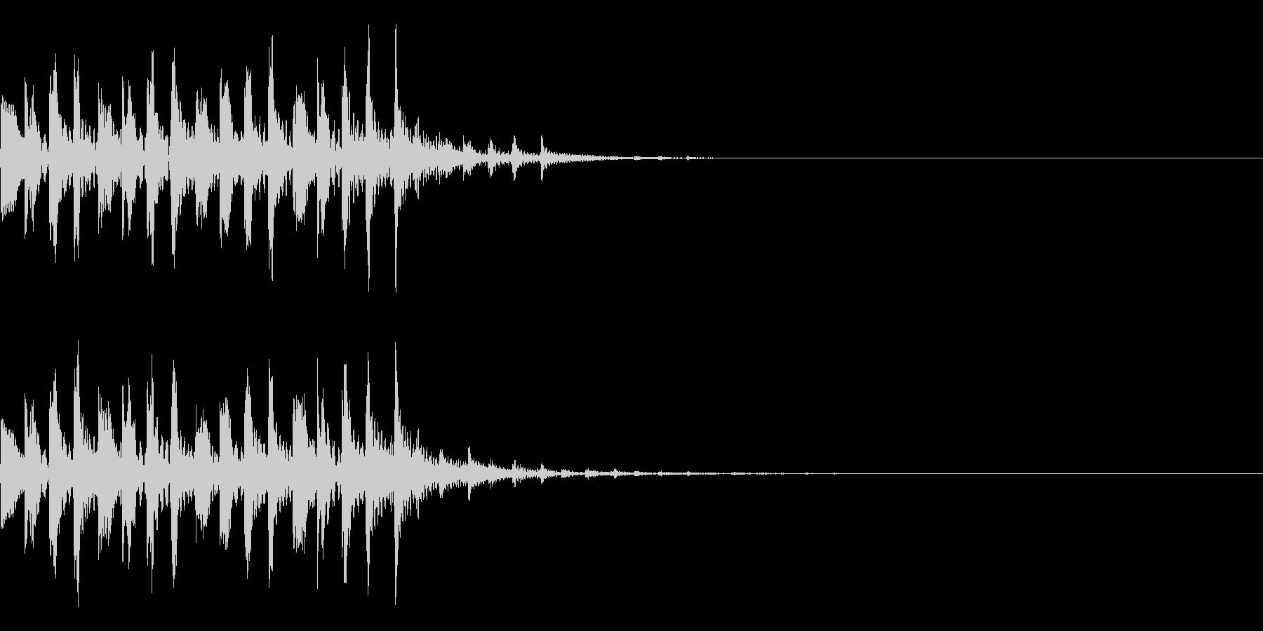 シンプルな効果音 シンセの魔法音の未再生の波形