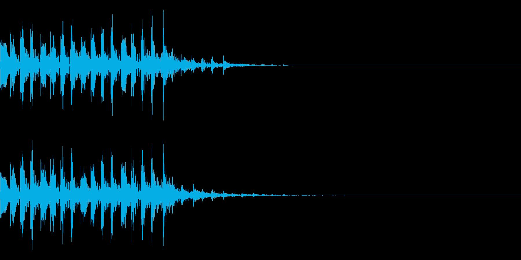シンプルな効果音 シンセの魔法音の再生済みの波形