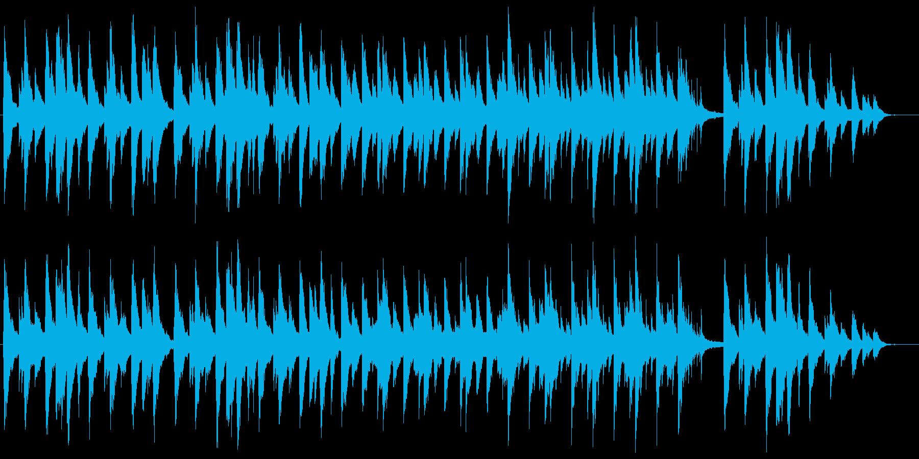 夜を感じさせるゆっくり目のピアノ曲の再生済みの波形