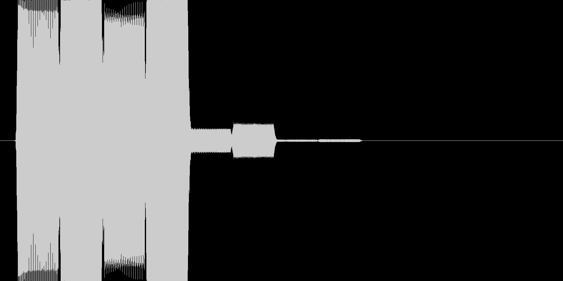 電子的な決定音(ピロロロッ↑)の未再生の波形