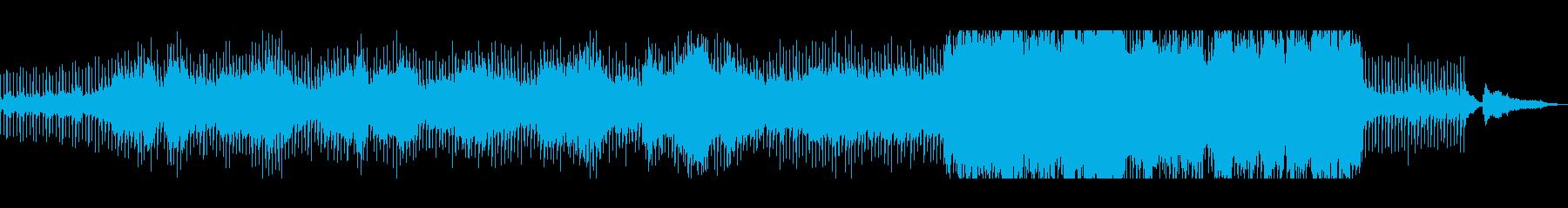 澄みきった歌声、幻想的・神秘的な曲の再生済みの波形