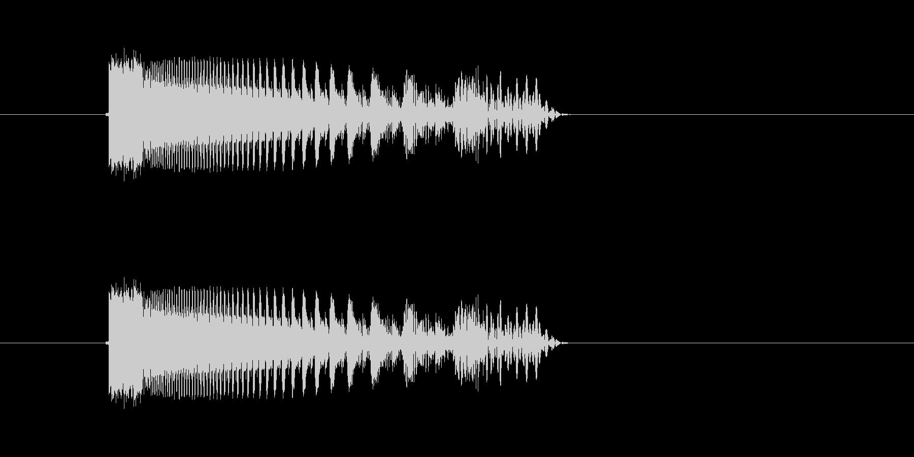ギュールル(落下、回転、停止)の未再生の波形