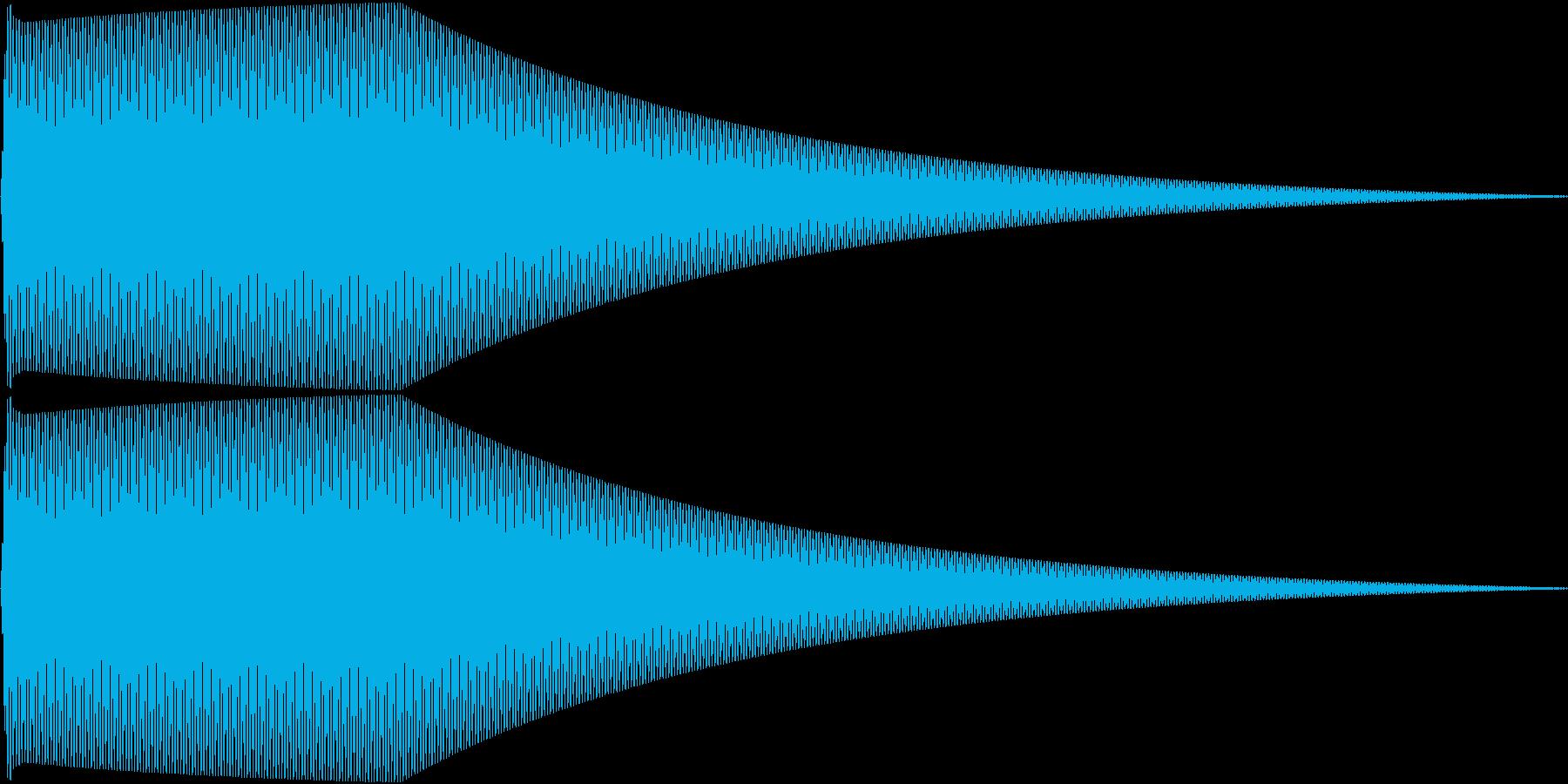 Sin シンプルなサイン波のタッチ音 3の再生済みの波形