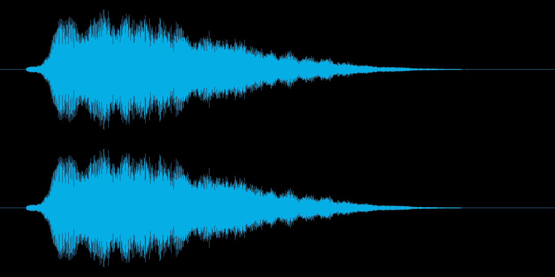 やわらかシンセのメロディーの再生済みの波形