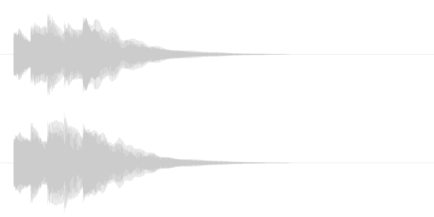 アイドルSE3 スタート音 豪華決定音の未再生の波形