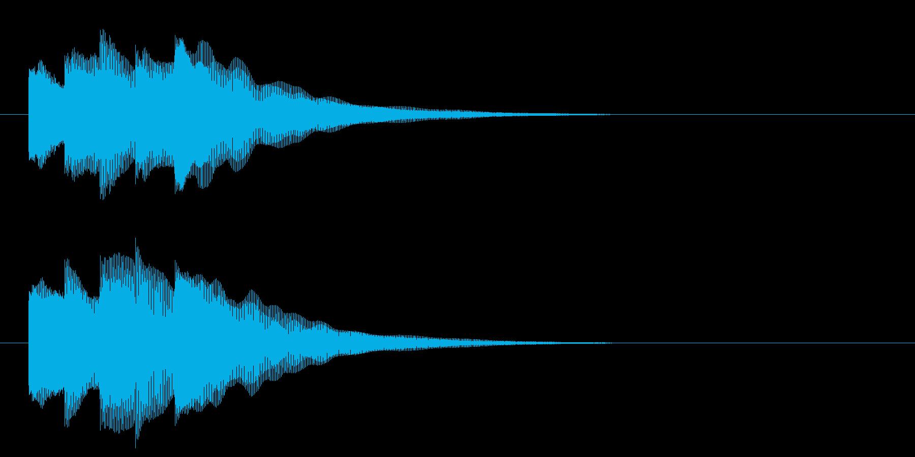 アイドルSE3 スタート音 豪華決定音の再生済みの波形