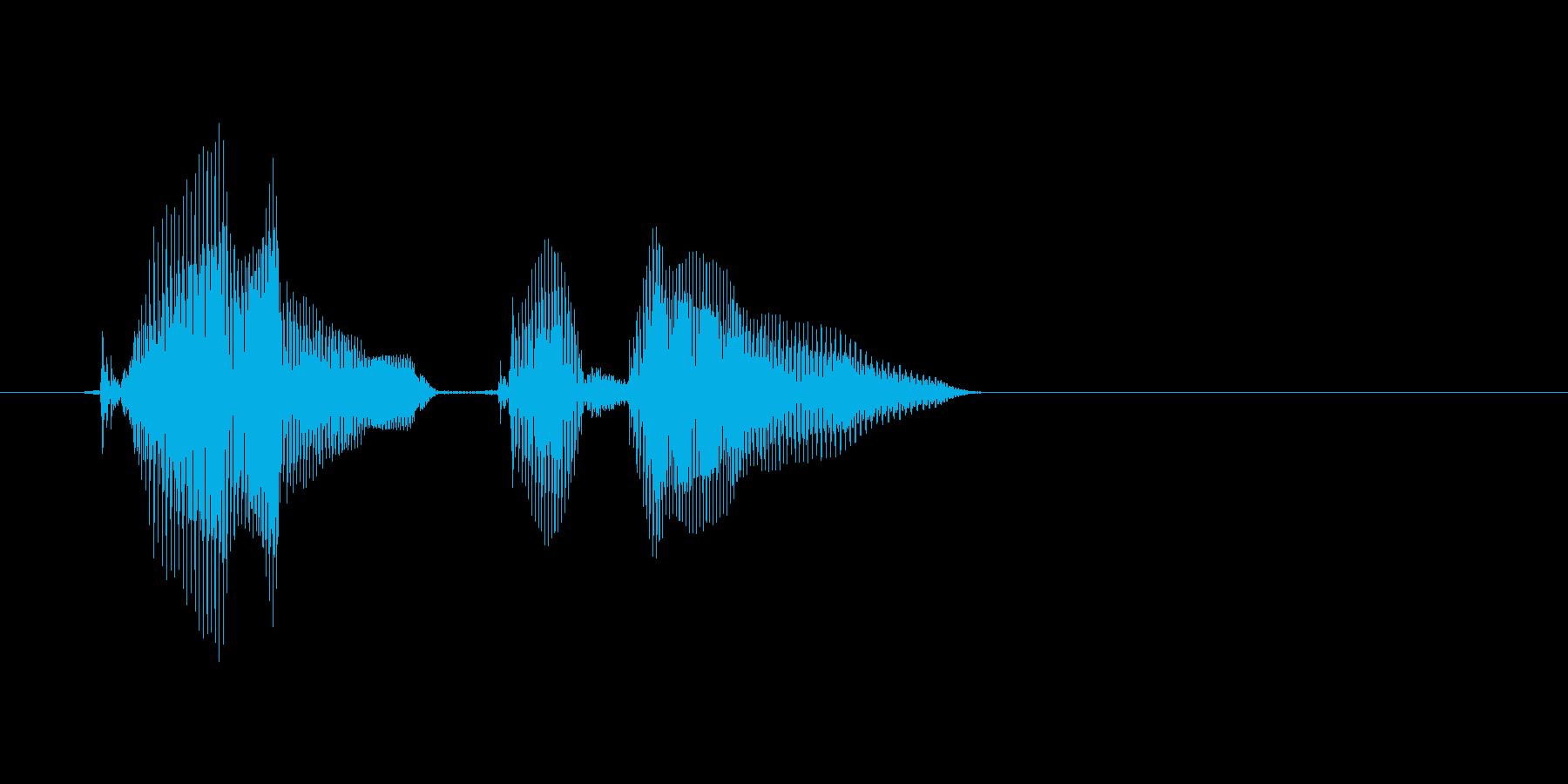 カウントダウンの再生済みの波形