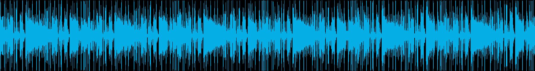 シンプルなファンク風のシンキングタイムの再生済みの波形