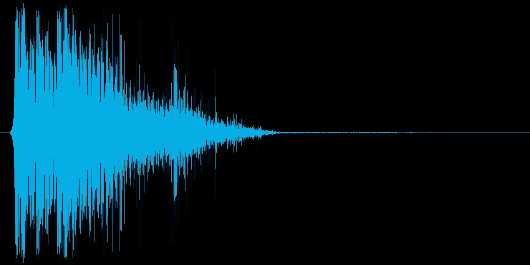 『倒れる音/ドシャアッ!』キャラクター…の再生済みの波形