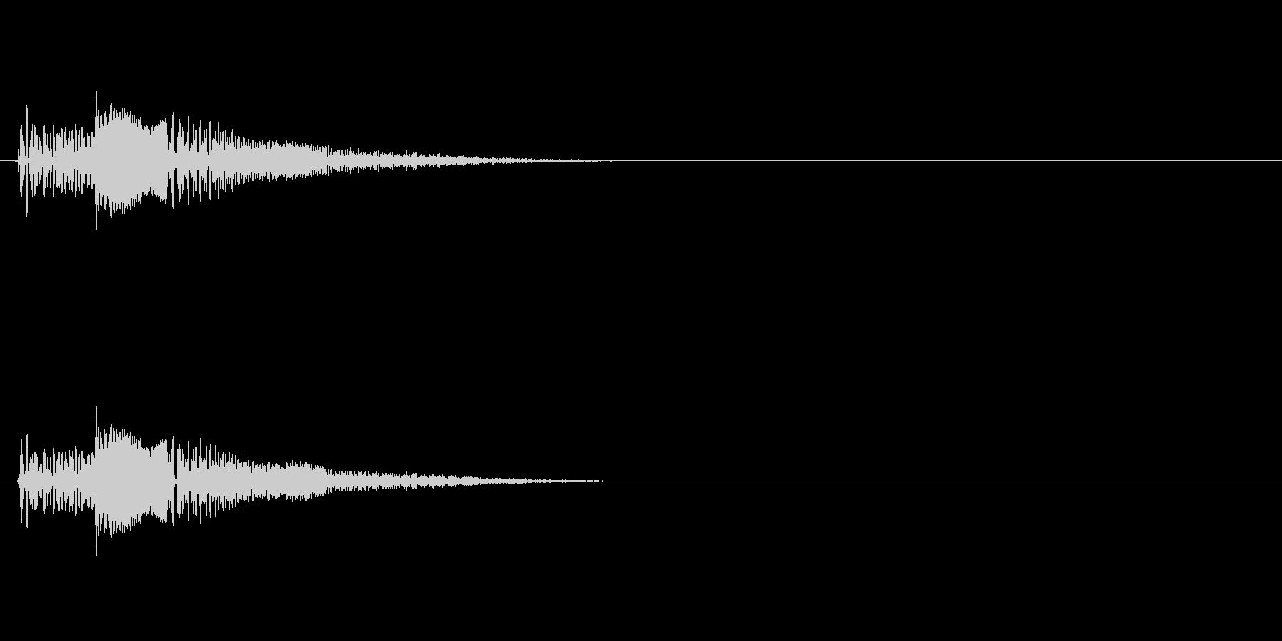 ゼリーのようなポヨンとした音の未再生の波形