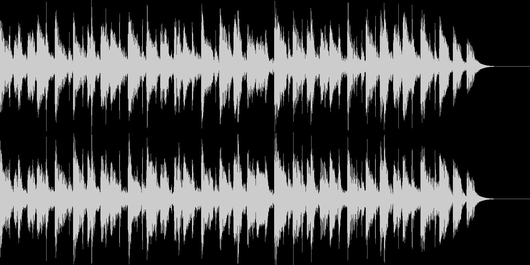 落ち着いたポップス風BGMの未再生の波形