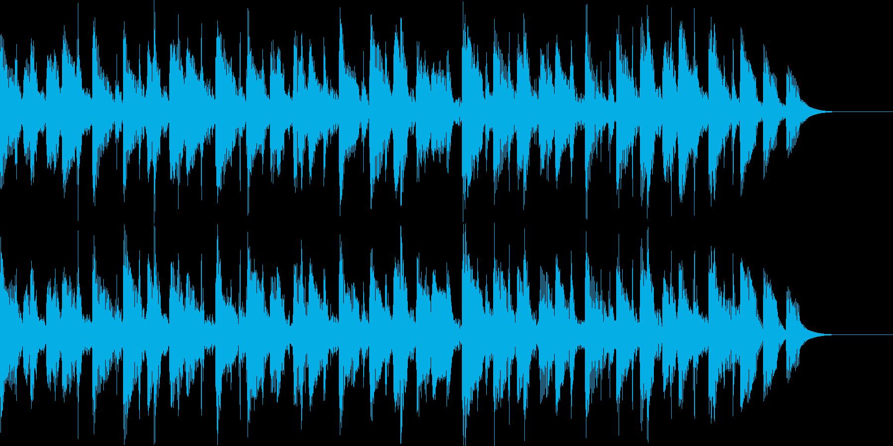 落ち着いたポップス風BGMの再生済みの波形