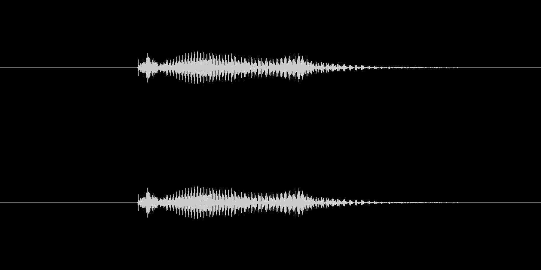 【数字】2(トゥー)の未再生の波形