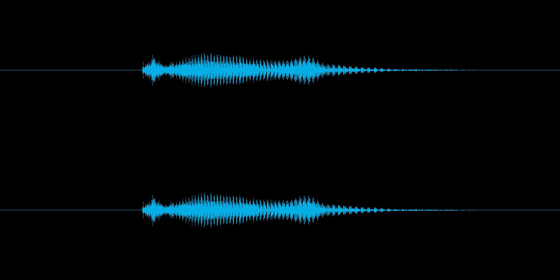 【数字】2(トゥー)の再生済みの波形