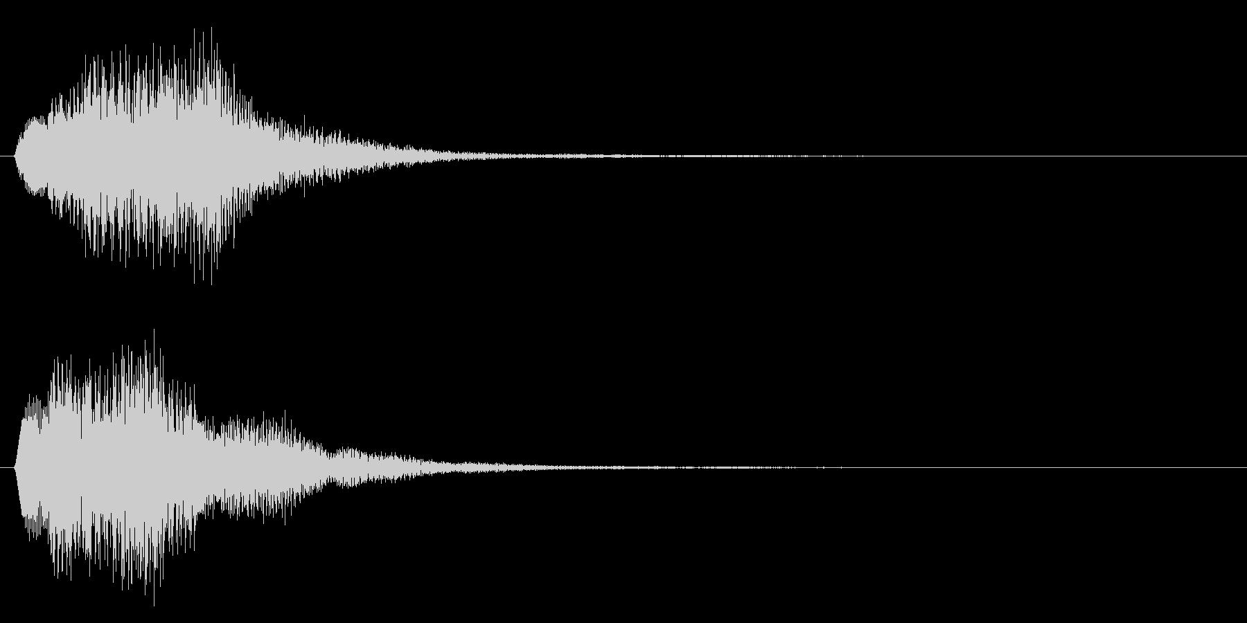 決定音/上昇系/シンセサイザーの未再生の波形