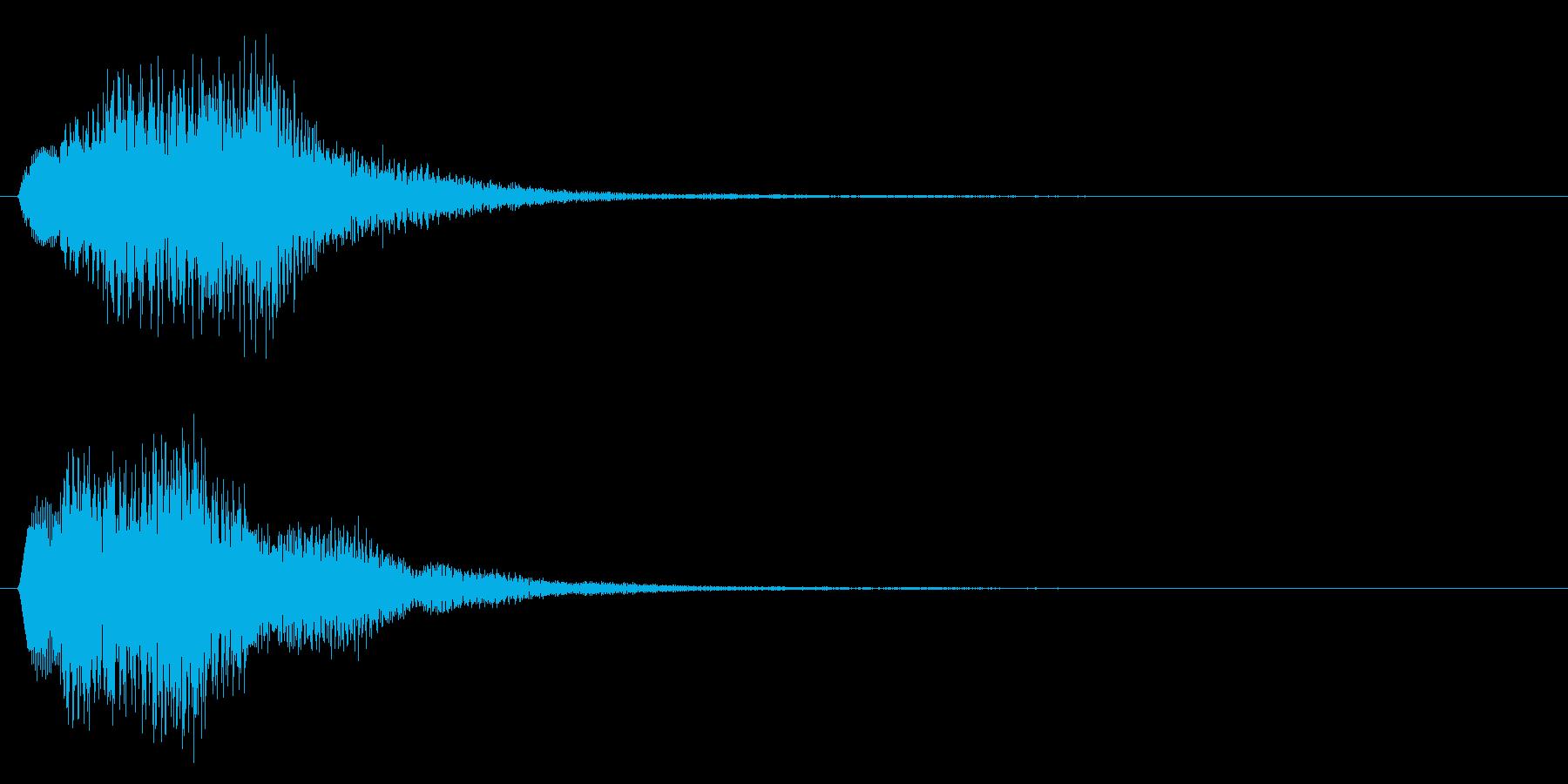 決定音/上昇系/シンセサイザーの再生済みの波形
