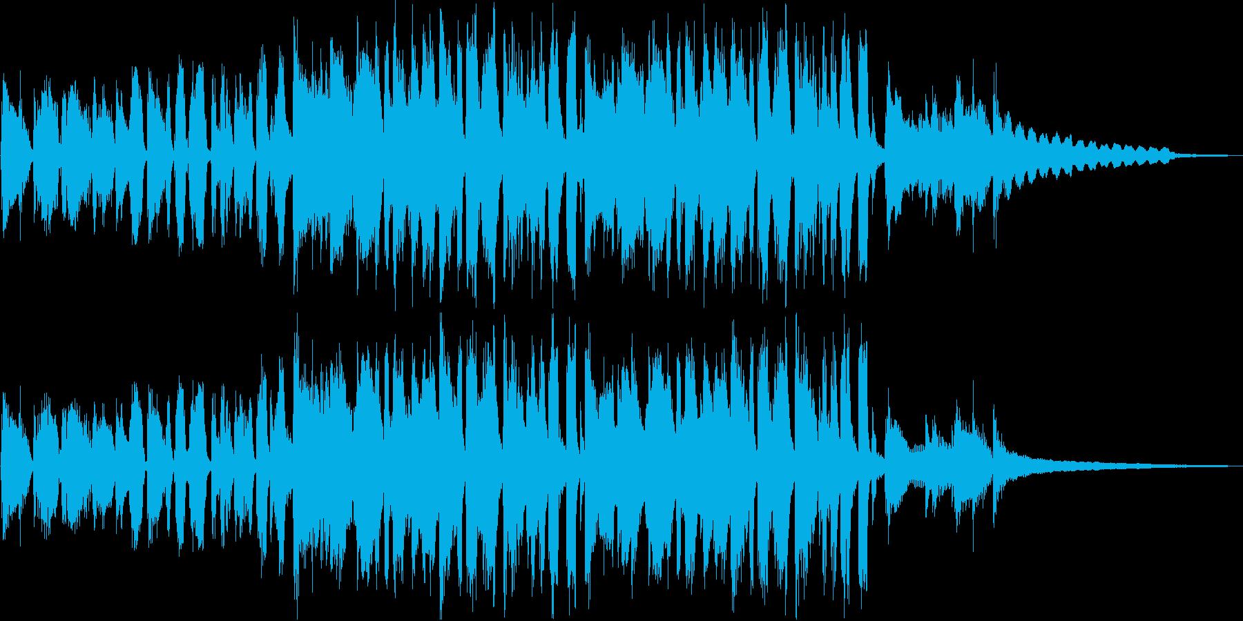 疾走感のあるブラスセクションのジングルの再生済みの波形