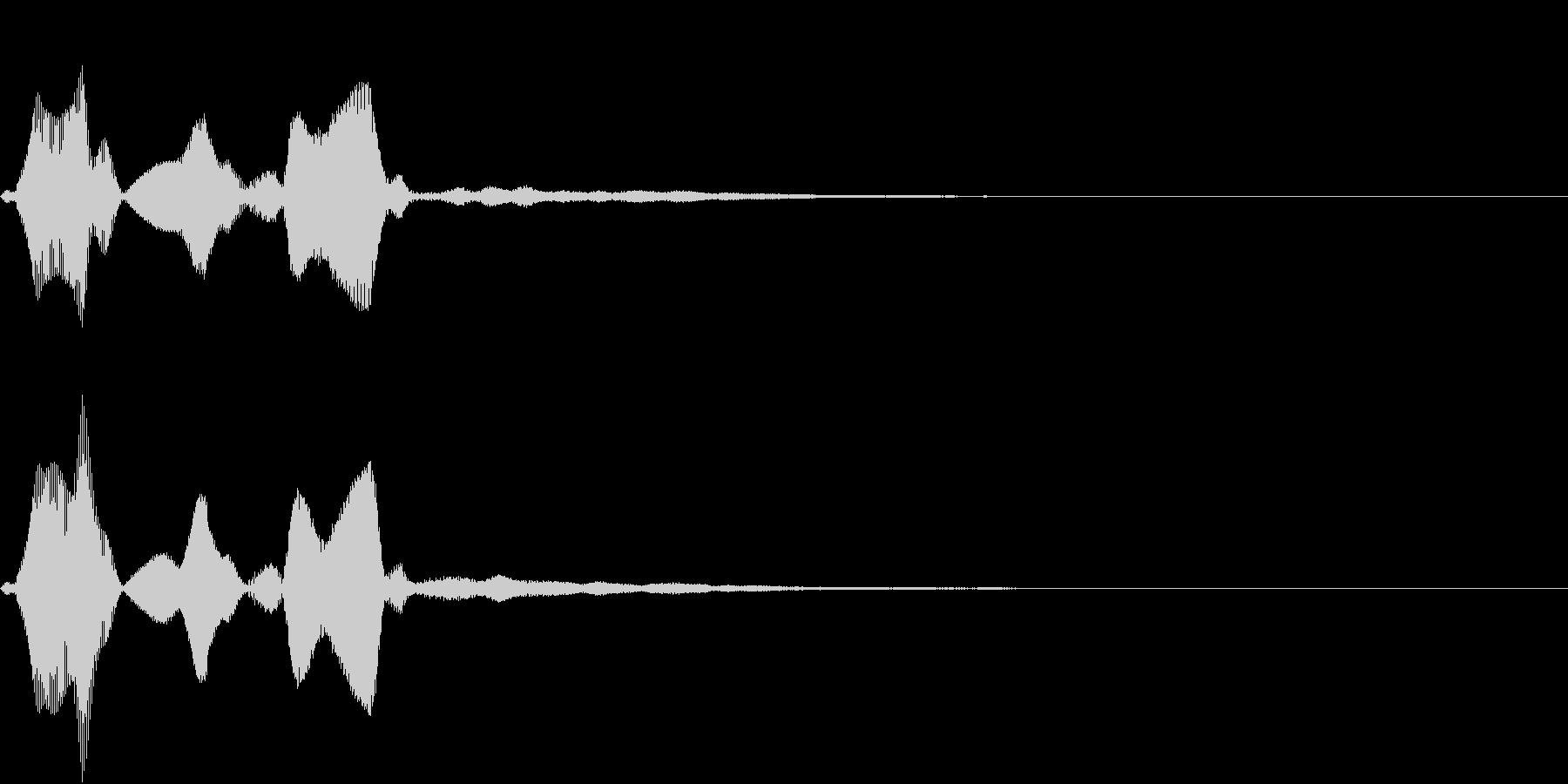 Command 認証・承認 電子音の未再生の波形