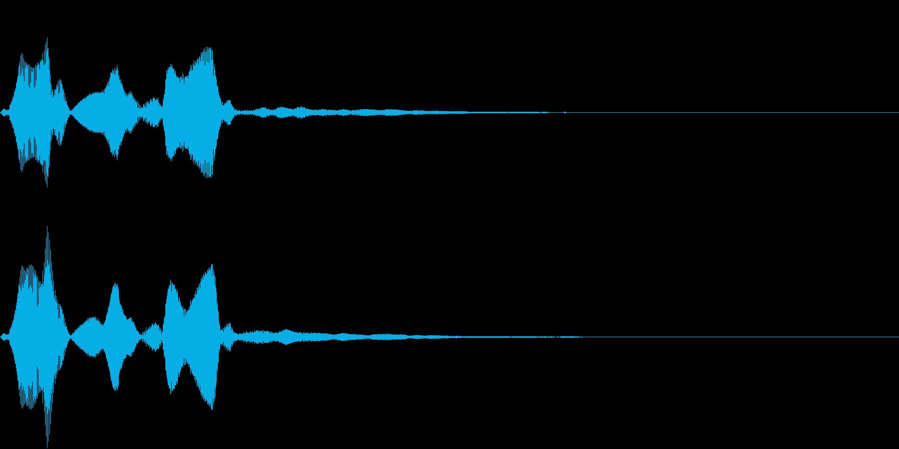Command 認証・承認 電子音の再生済みの波形