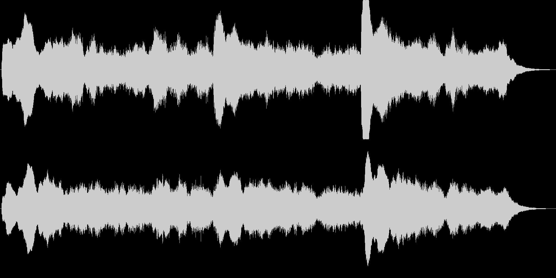 シンセによるダークで不思議なジングルの未再生の波形
