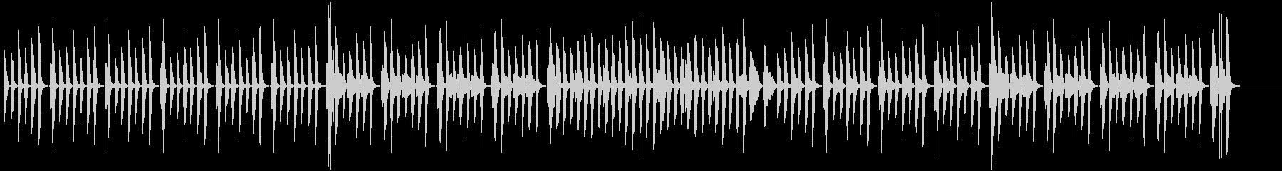 日常系ピアノの軽やかでかわいい曲・伴奏版の未再生の波形