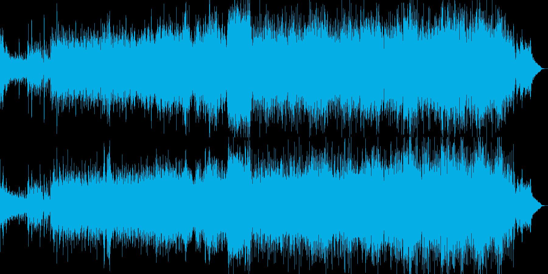 海、水、南国っぽい音楽の再生済みの波形