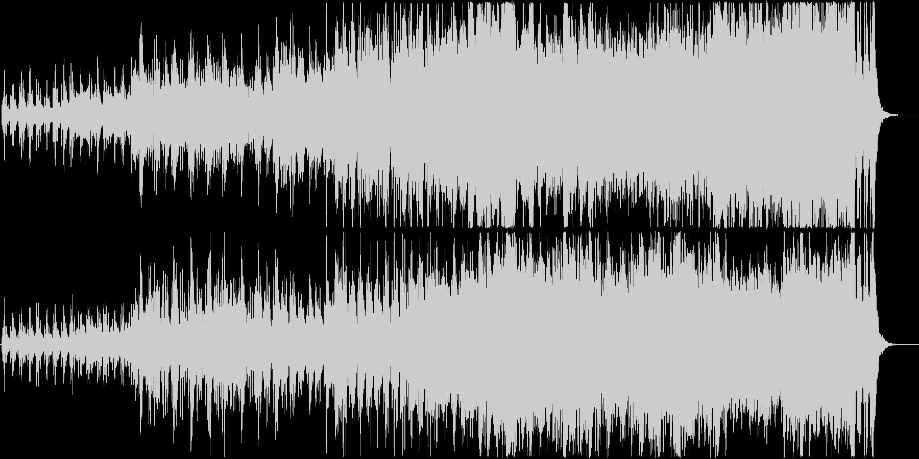 前向きで感動的なオーケストラ曲の未再生の波形