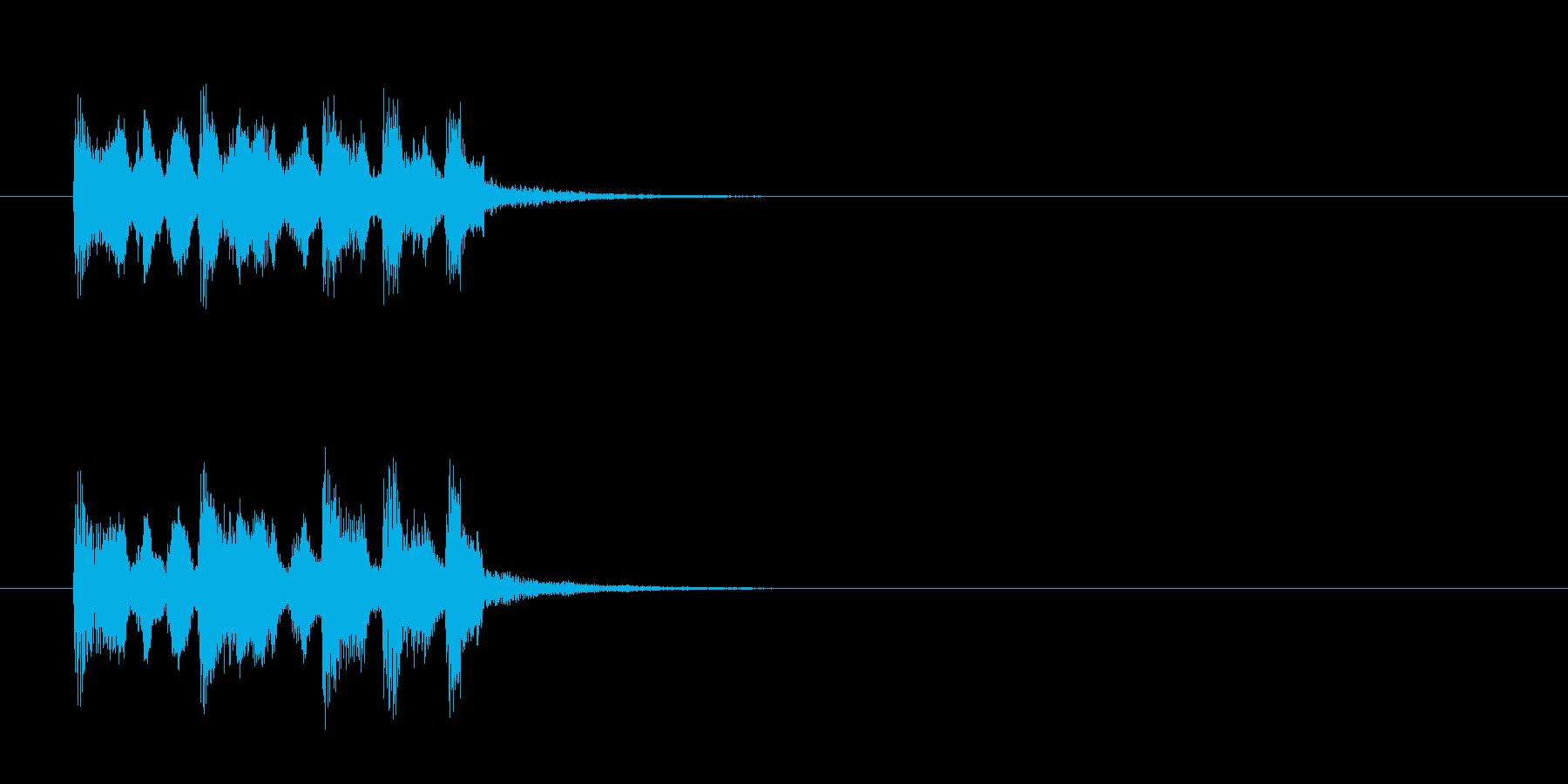 ジングル(ちょっとズッコケ・コメディ風)の再生済みの波形