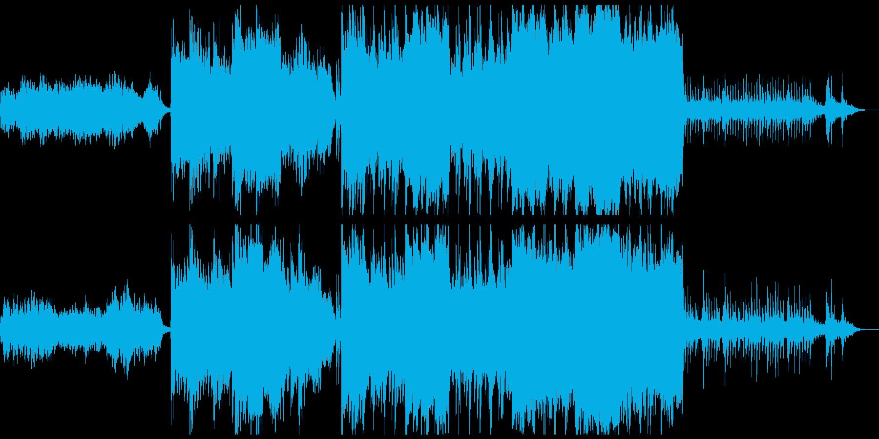 ゲームスタート画面向けBGMの再生済みの波形