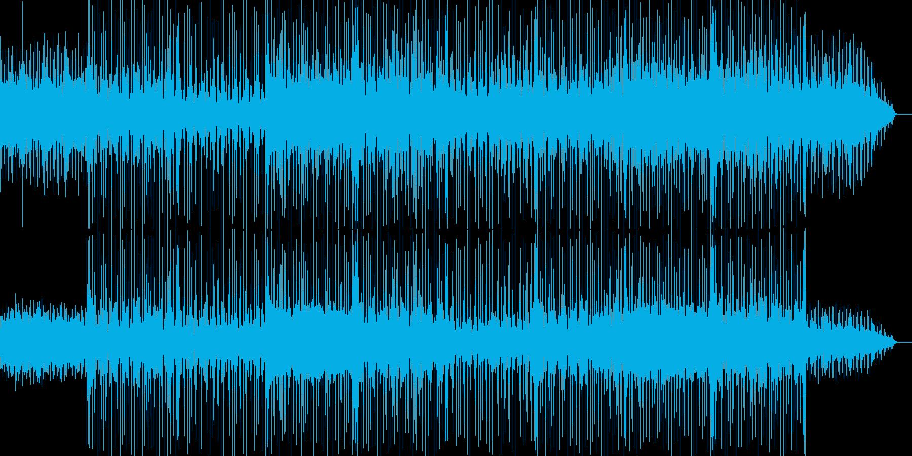 怪しく切ない雰囲気のBGMの再生済みの波形