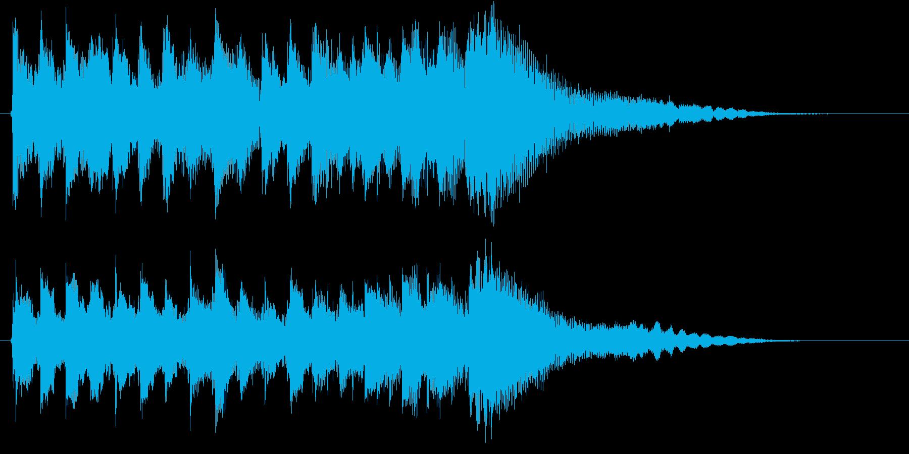 琴・尺八・和太鼓の純和風ロゴの再生済みの波形