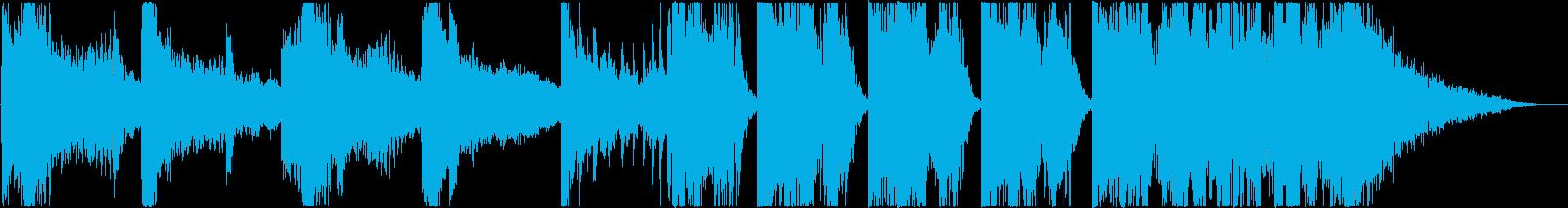 やや音が主張するトレーラーの再生済みの波形