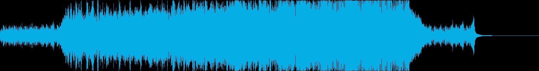 優しく感動的なポップオーケストラの再生済みの波形