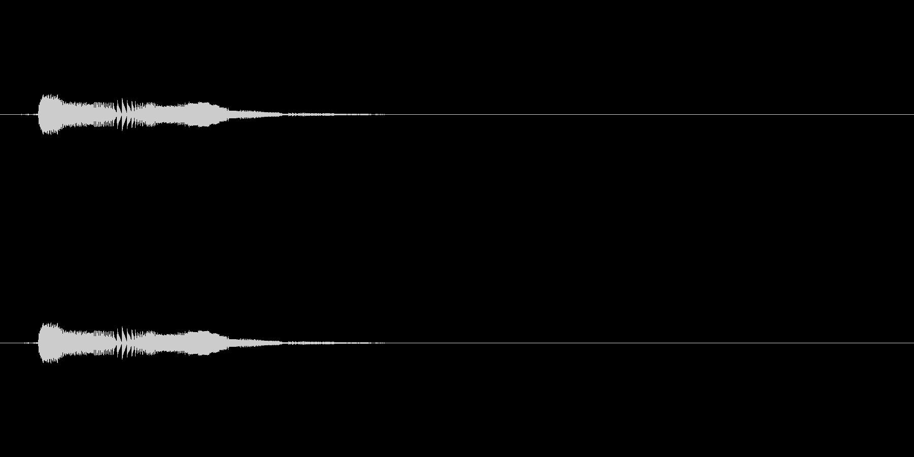 ぴょいっ(ジャンプ音、カーソル音)の未再生の波形