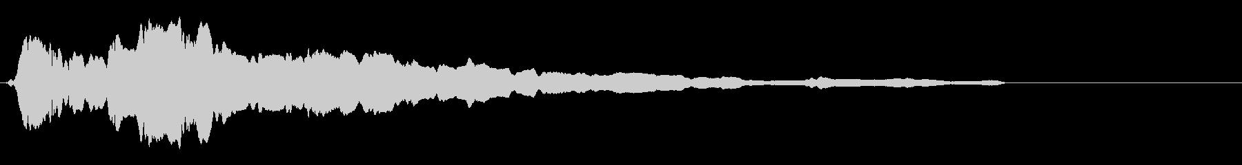 ひゅー 落下 スライドホイッスルの未再生の波形