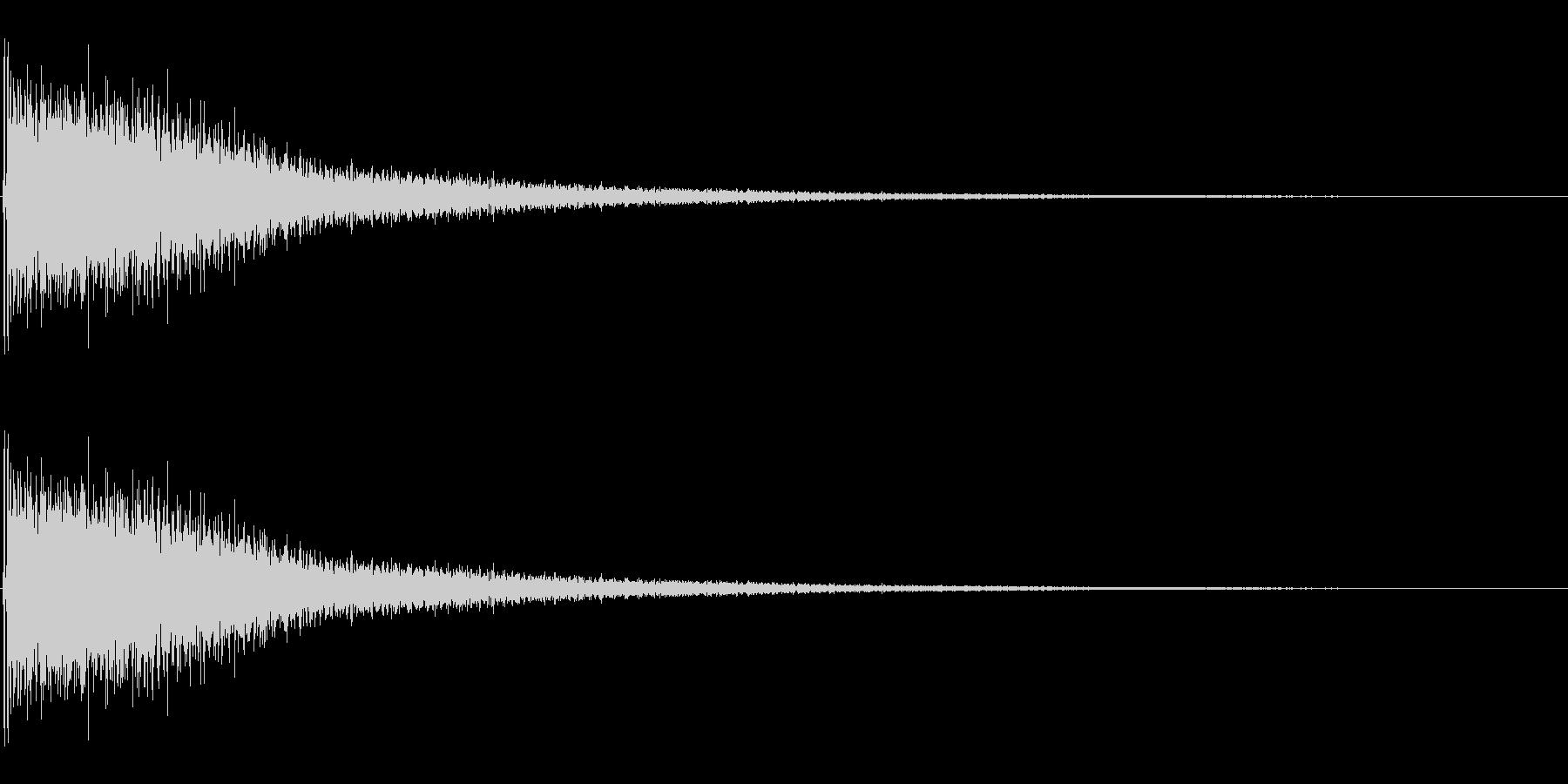 ジャーン(ピアノを適当に叩いた音)の未再生の波形