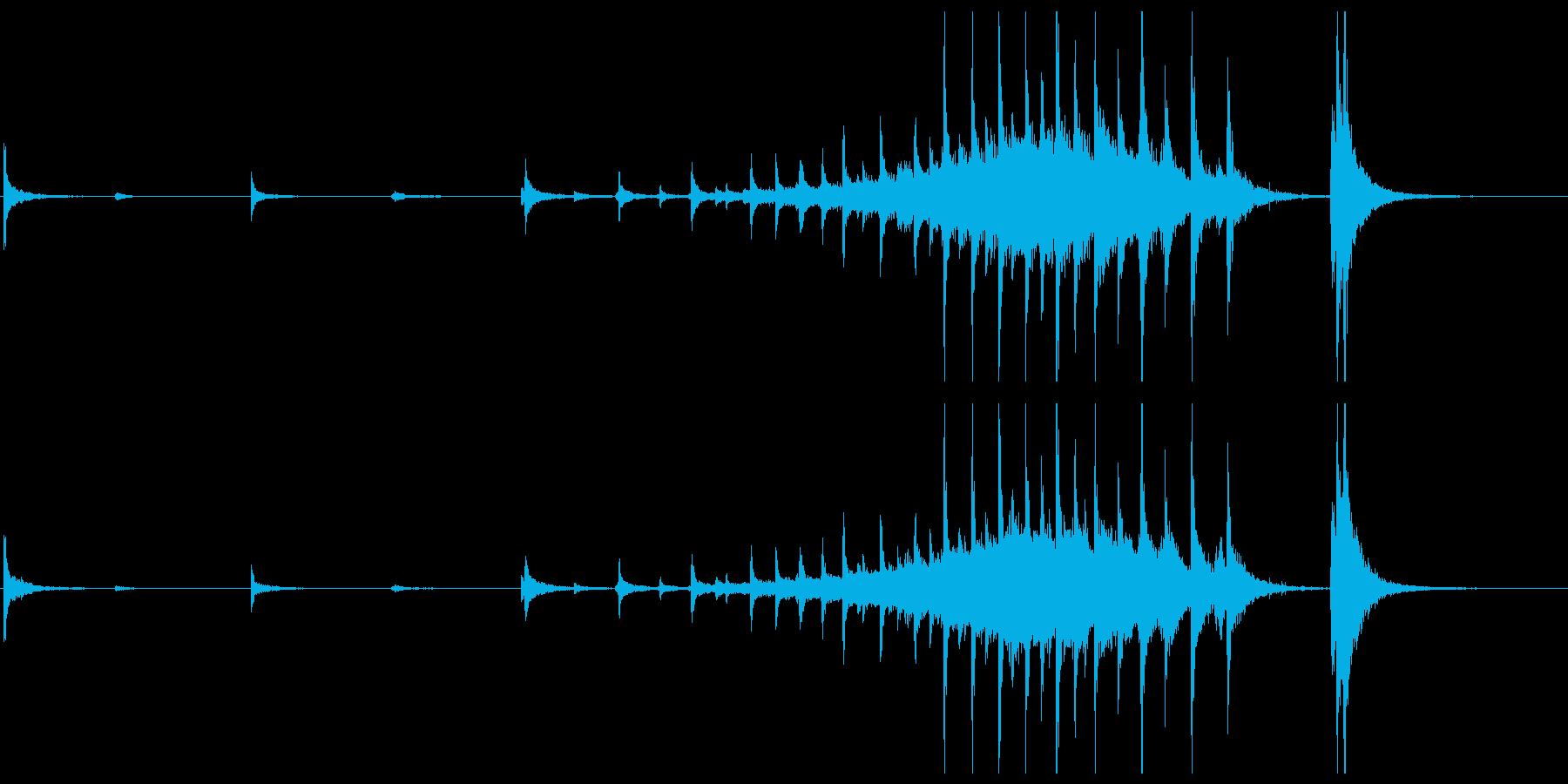 拍子木や鈴などのオープニングに最適な音源の再生済みの波形