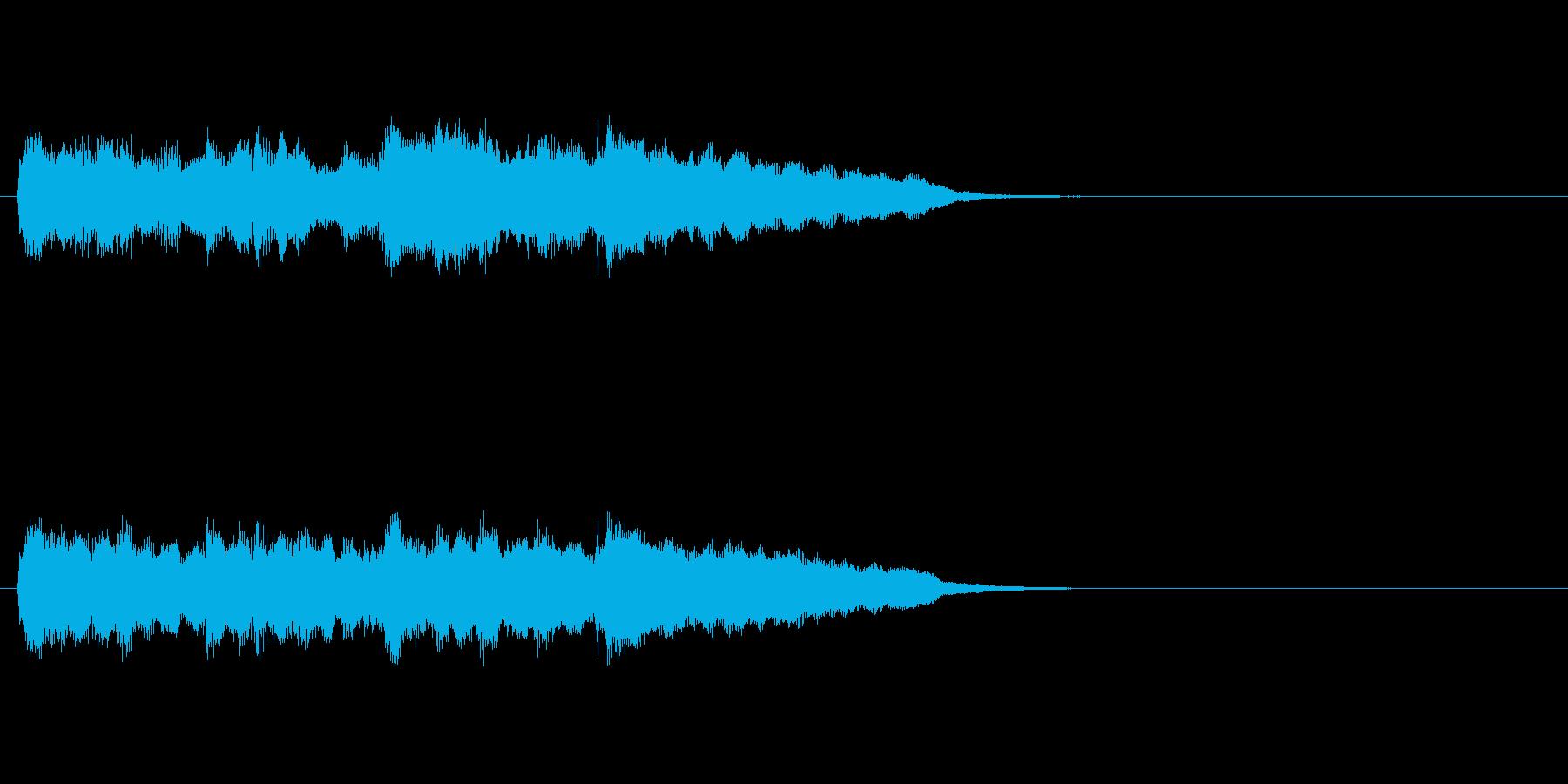 ジングル(クラシック調)の再生済みの波形