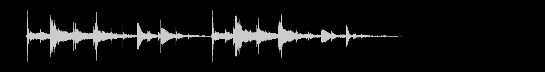 コンコココンという不思議な音の未再生の波形