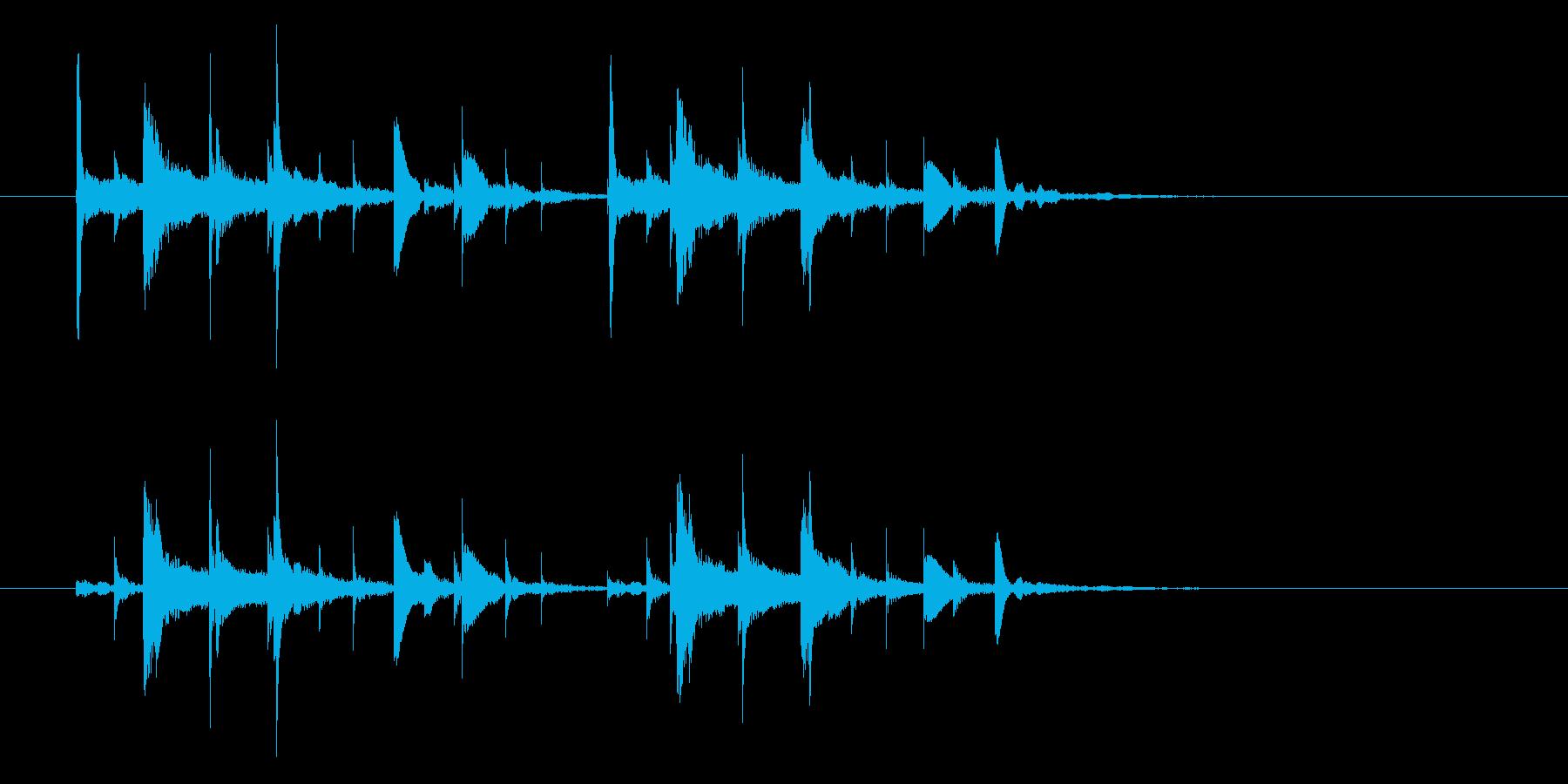 コンコココンという不思議な音の再生済みの波形