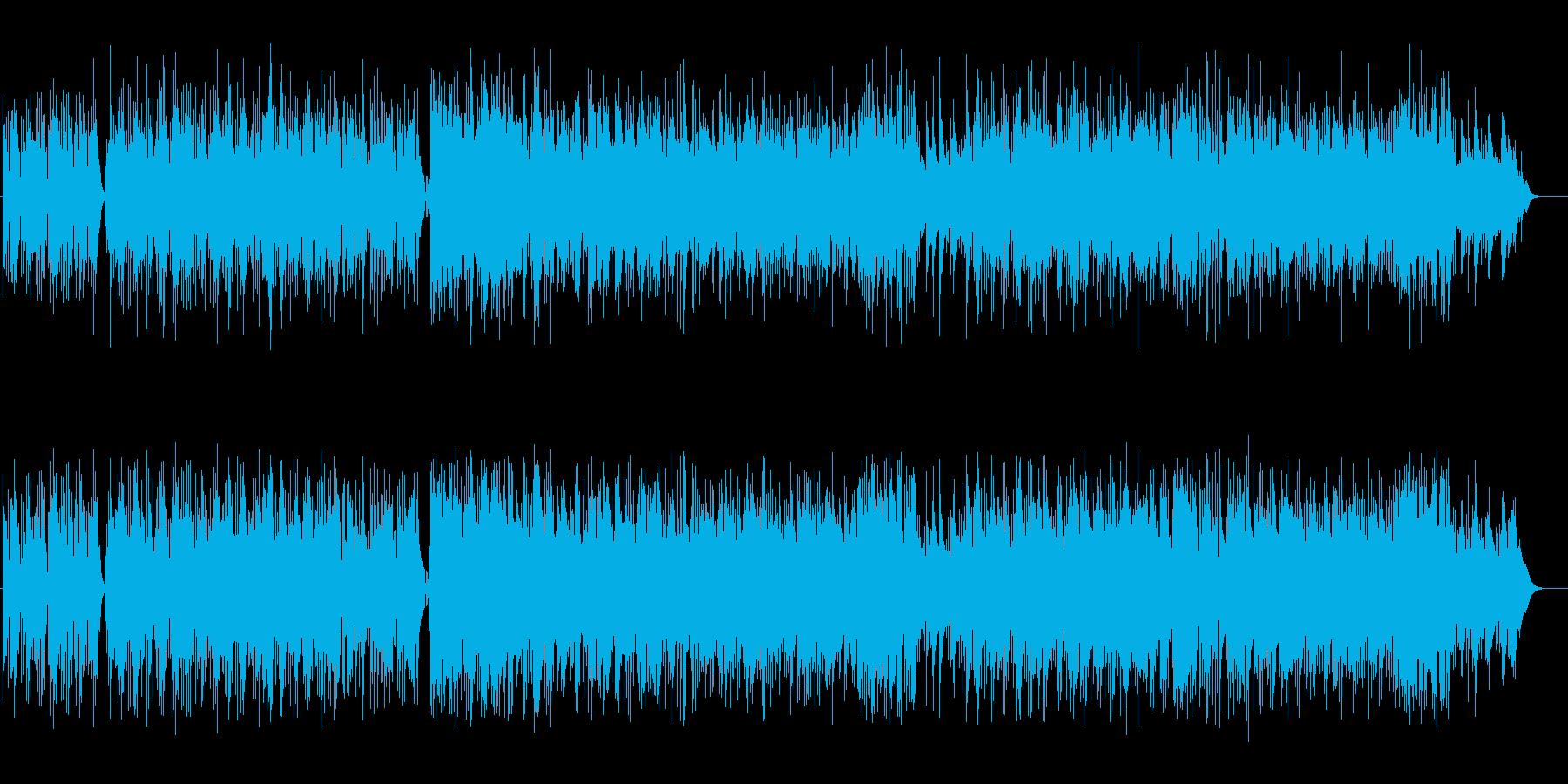 ボサノバ調のアコースティック・ギターの再生済みの波形