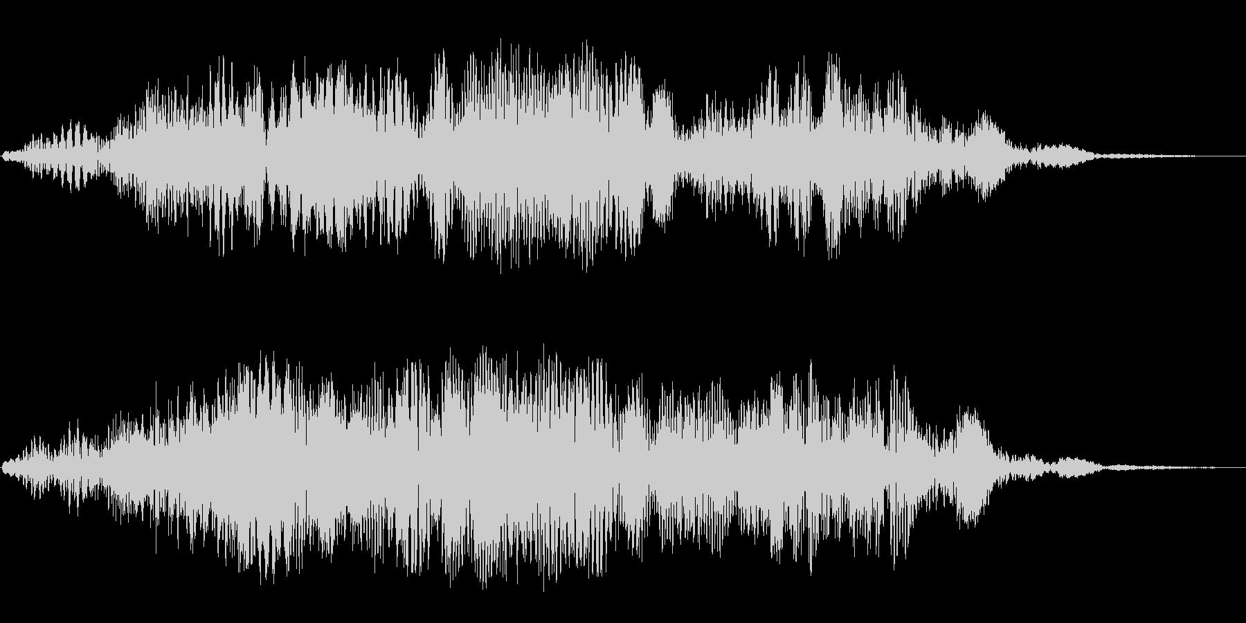巨大惑星(高め音色)の未再生の波形