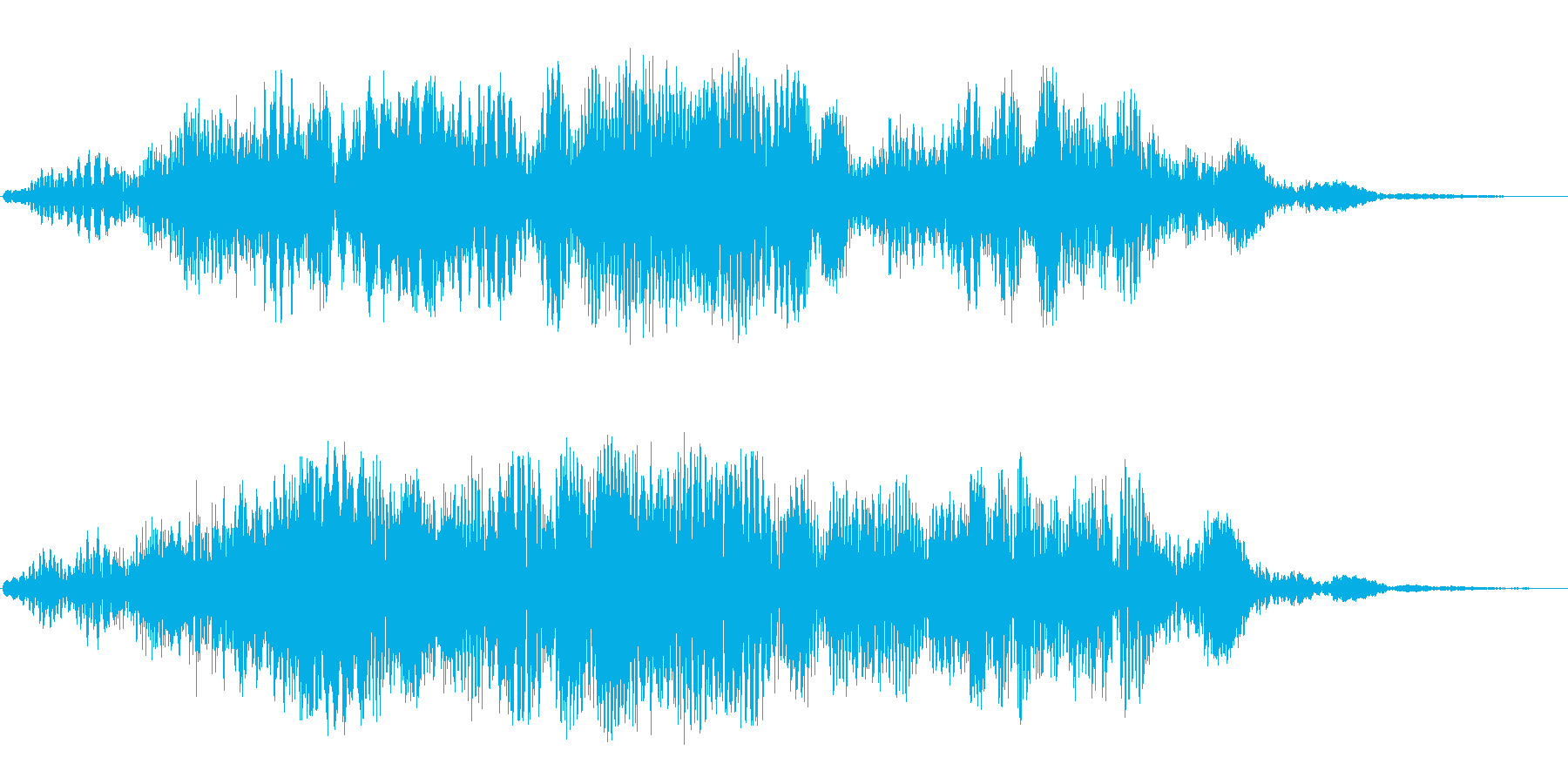 巨大惑星(高め音色)の再生済みの波形