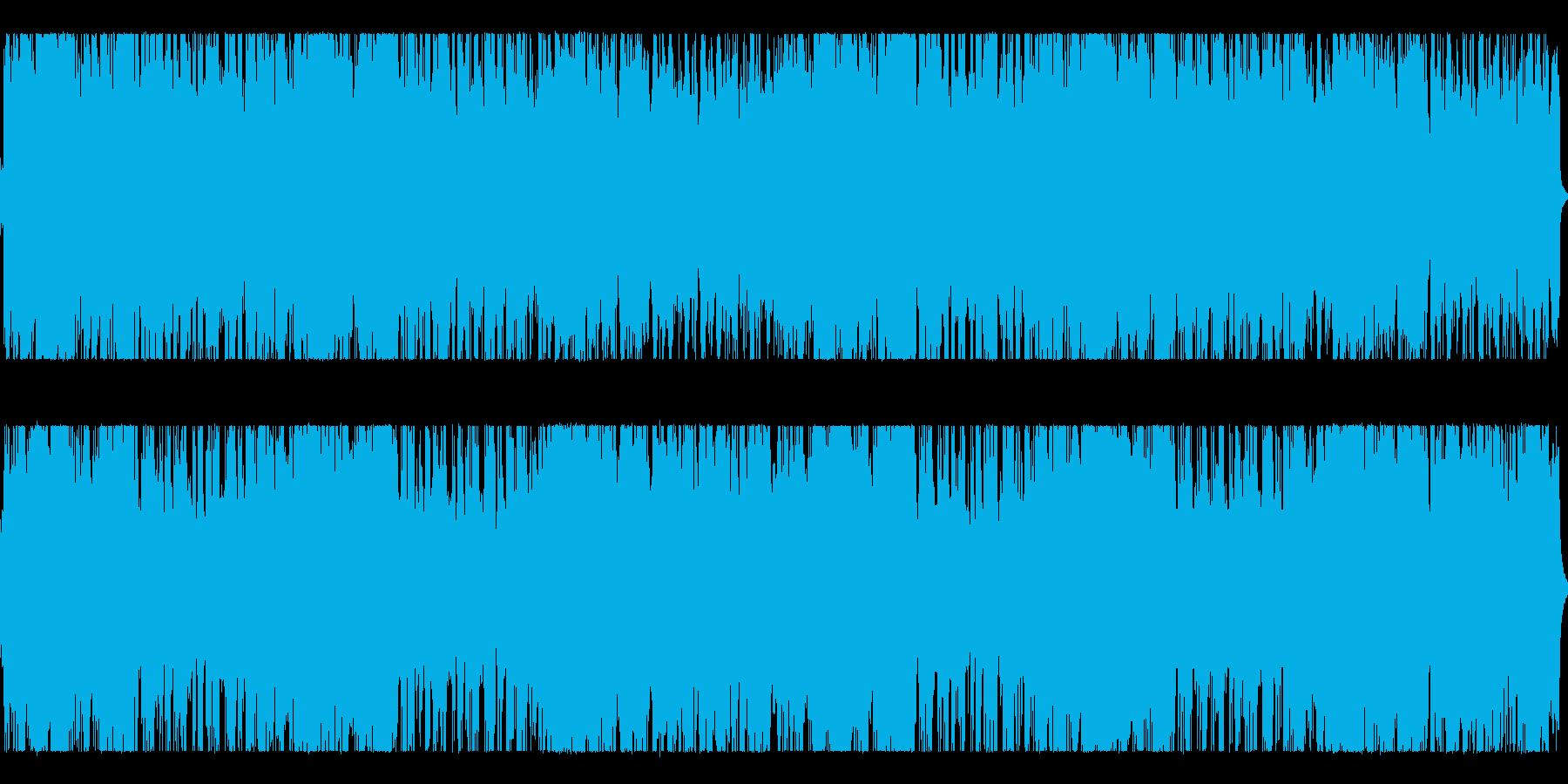 シリアスな雰囲気のシンセインストの再生済みの波形