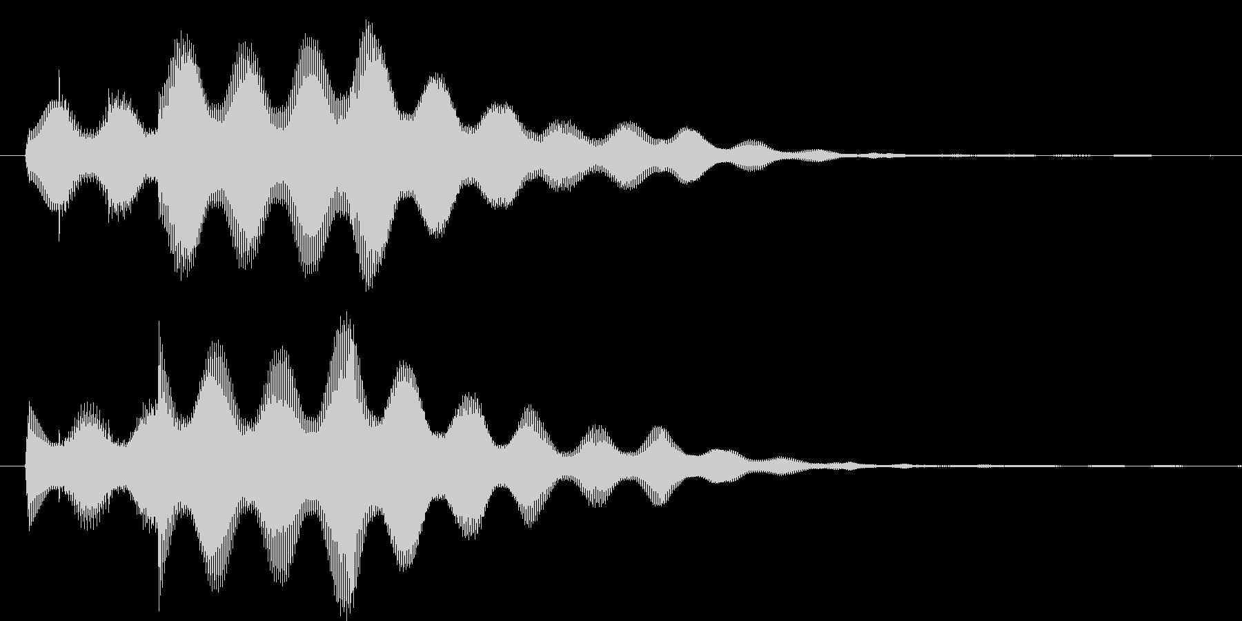 決定ボタンを押した時などの音の未再生の波形