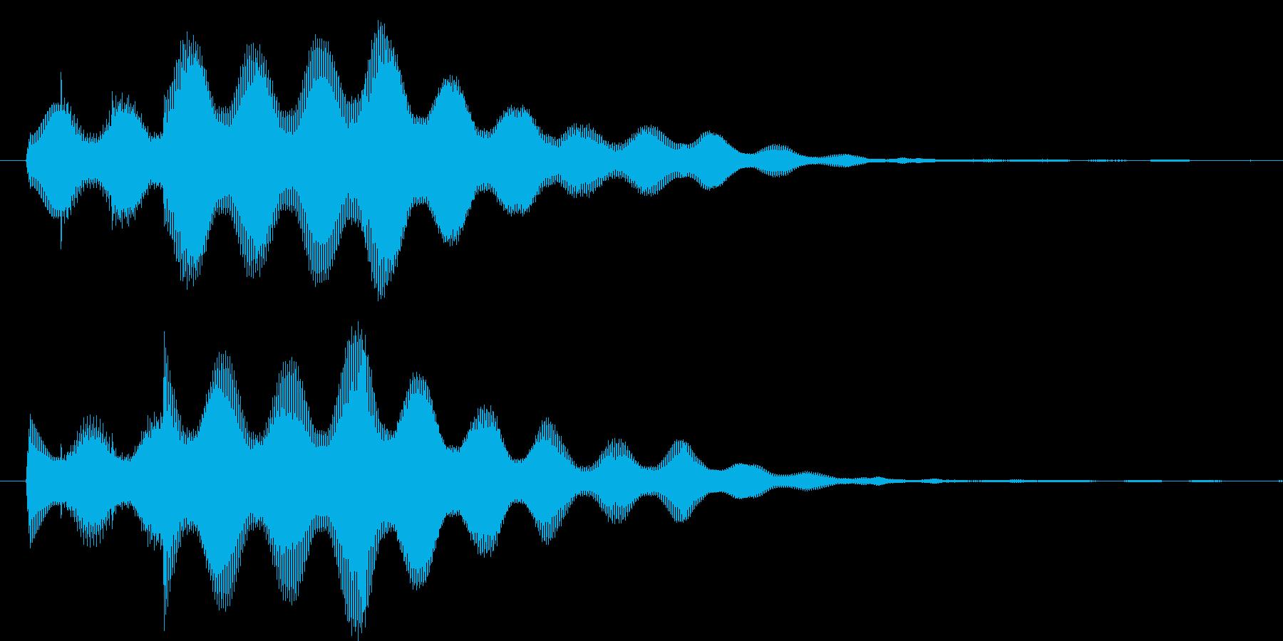 決定ボタンを押した時などの音の再生済みの波形