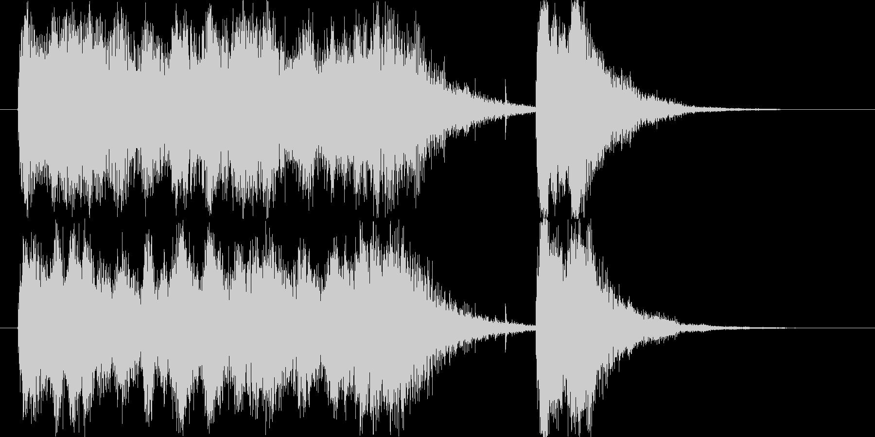 壮大なスペイン風フルオーケストラロゴの未再生の波形