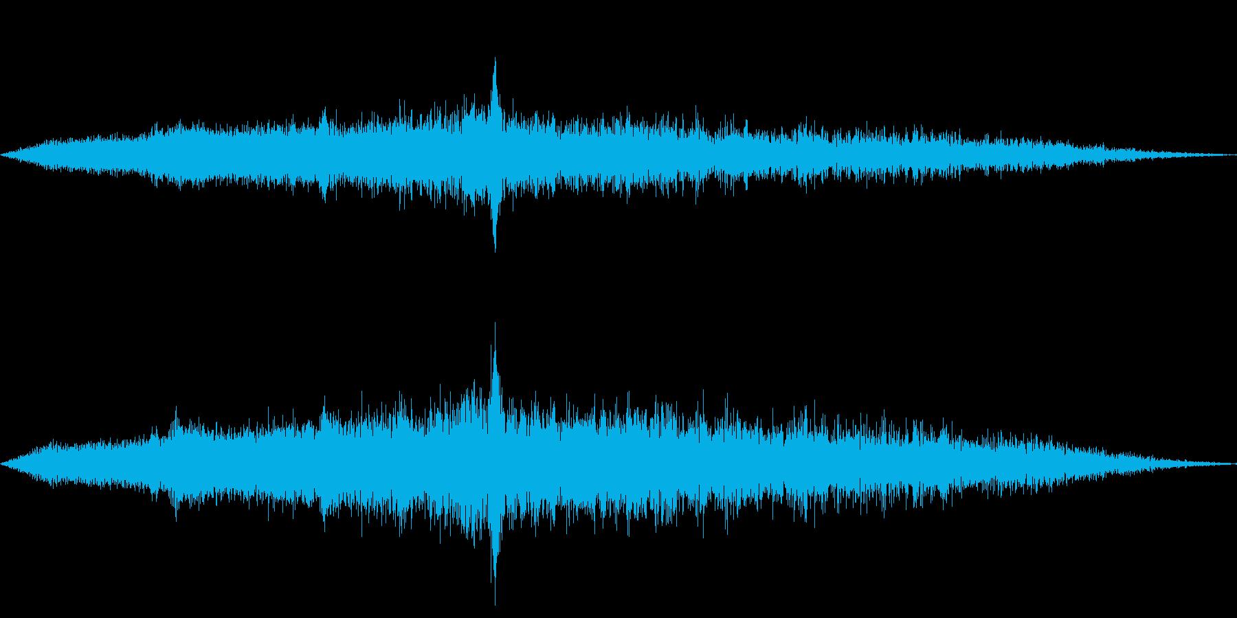 地下鉄の出発音の再生済みの波形