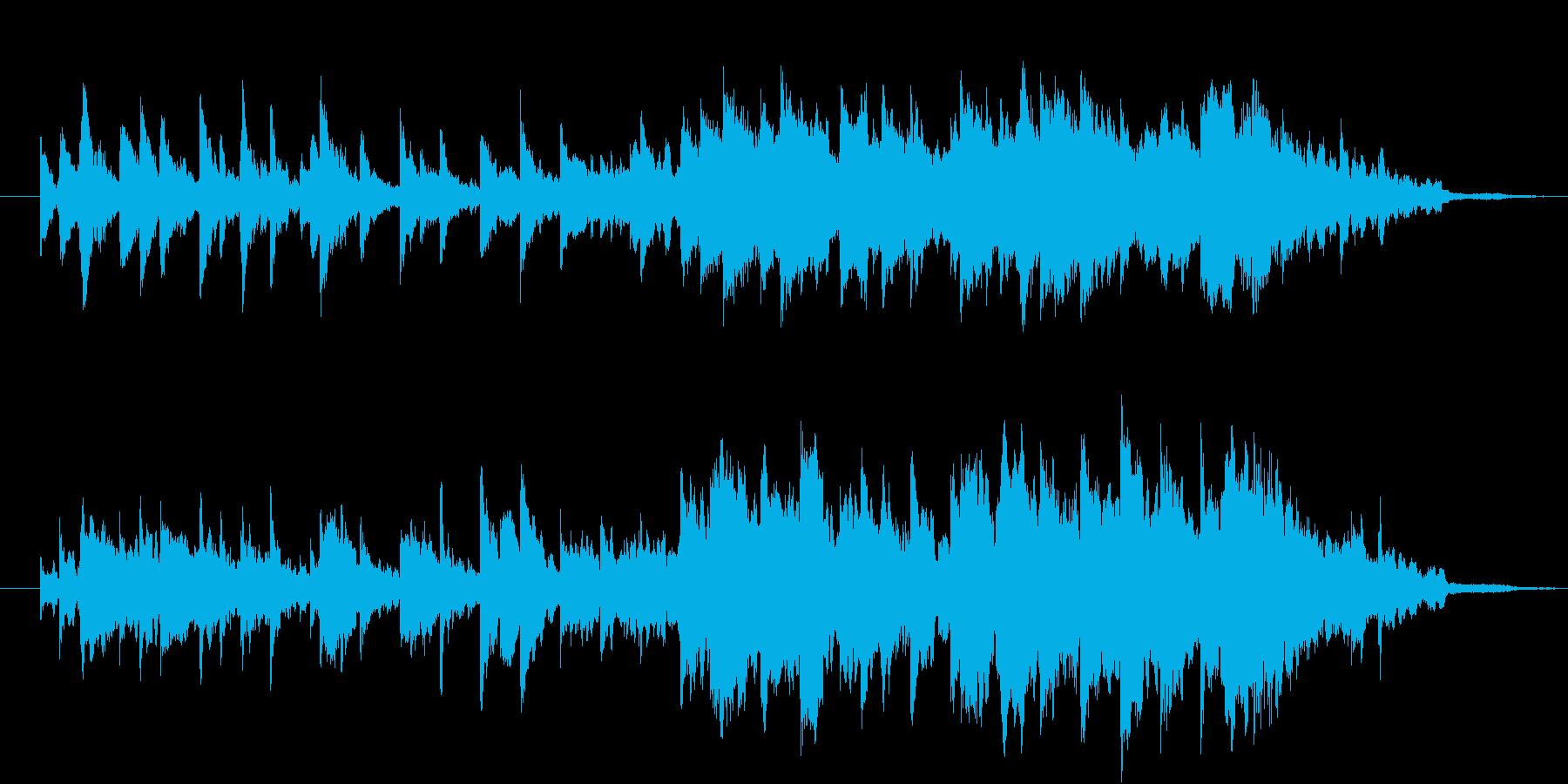 暖かさ溢れるピアノとヴィブラフォンの再生済みの波形